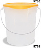 View: 5729 Round Storage Container with Bail Pack of 6